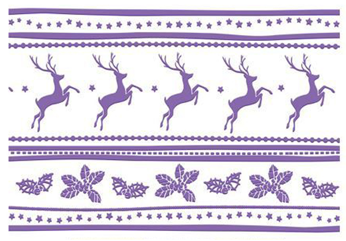 Embossing Folder- Christmas Collection 4 x 6 - Reindeer Joy