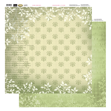 Couture Creations - 12x12 Vintage Rose Garden - Paper Pad (48)