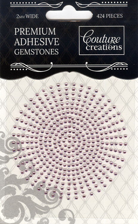 Couture Creations 2mm Gemstones - Pink Lace