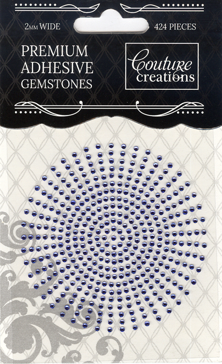 Couture Creations 2mm Gemstones - Azure
