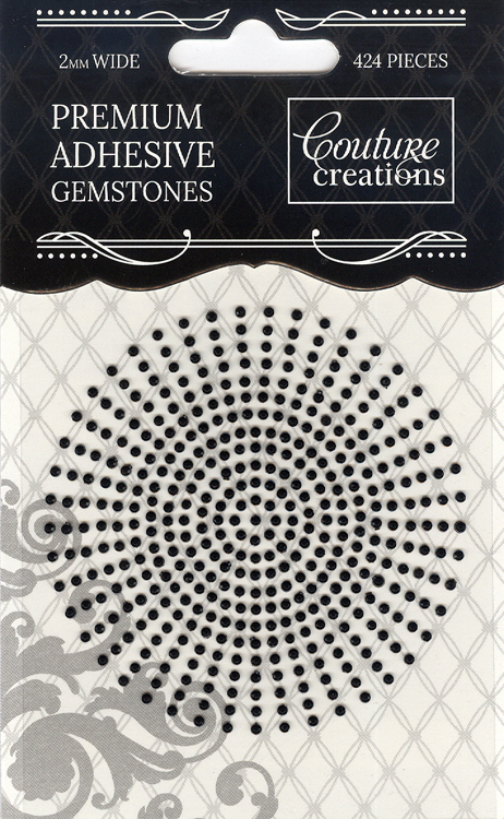 Couture Creations 2mm Gemstones - Onyx