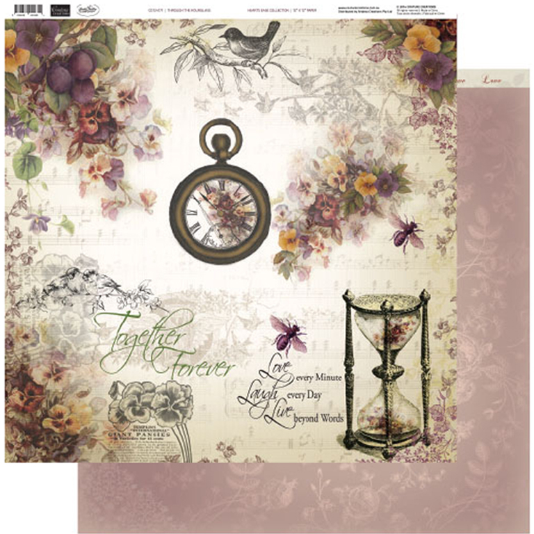 Couture Creations - 12 x 12 Paper (5 sheets) - Through the Hourglass