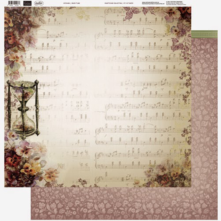 Couture Creations - 12 x 12 Paper (5 sheets) - Pansy Tune
