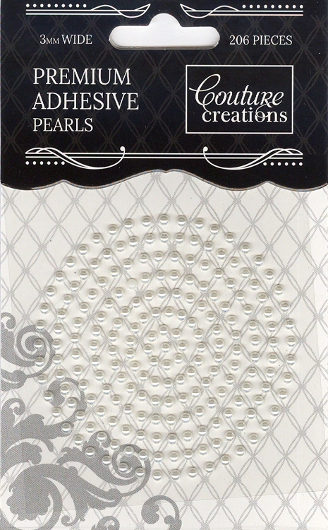 Couture Creations 3mm Pearls - Chiffon Cream