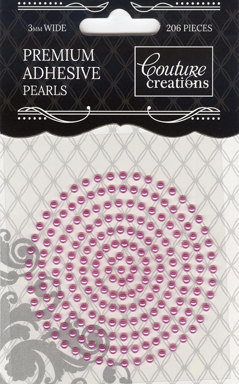 Couture Creations 3mm Pearls - Pretty Pink