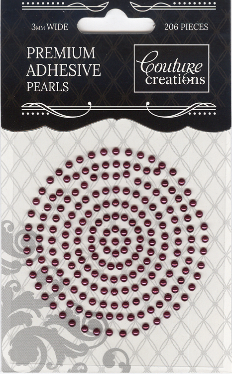 Couture Creations 3mm Pearls - Perfect Plum