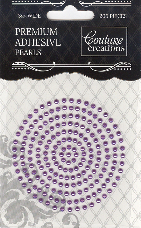 Couture Creations 3mm Pearls - Petunia Purple