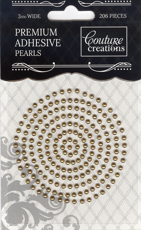 Couture Creations 3mm Pearls - Glamorous Gold
