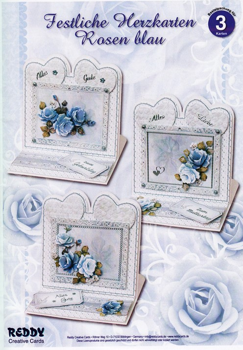 Card Kit - Blue Roses