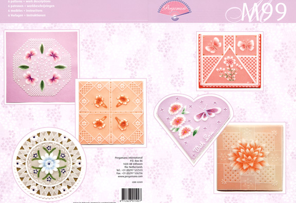 M99 Pergamano Pattern Book- Colorful Flowers
