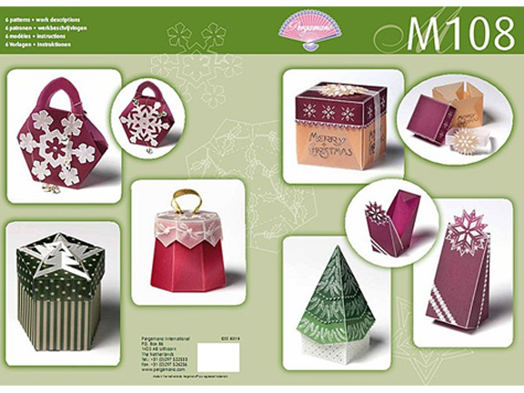 M108 Pergamano Pattern Booklet- Christmas Boxes