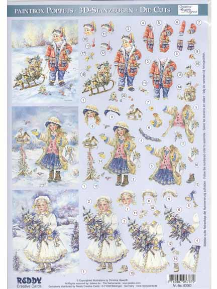 3D Paintbox Precut Winter Children with tree