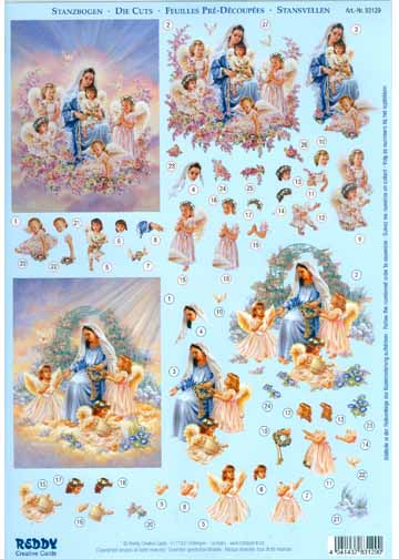 3D Precut -Madonna with Little Angels