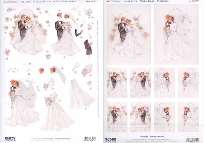 3D Precut - Bridal Couple 2 sheets