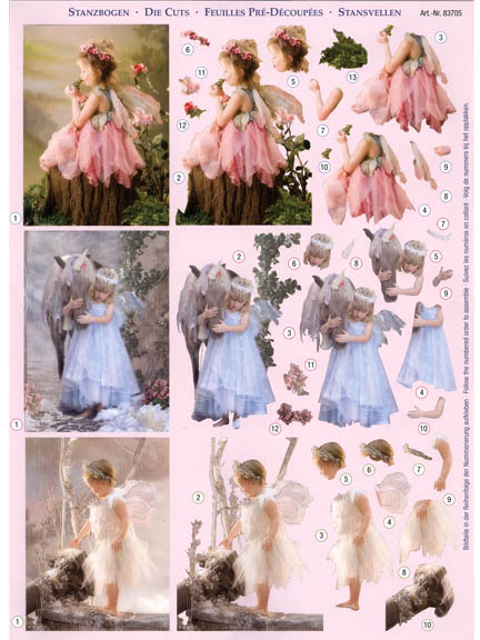 3D Precut Fairy Children