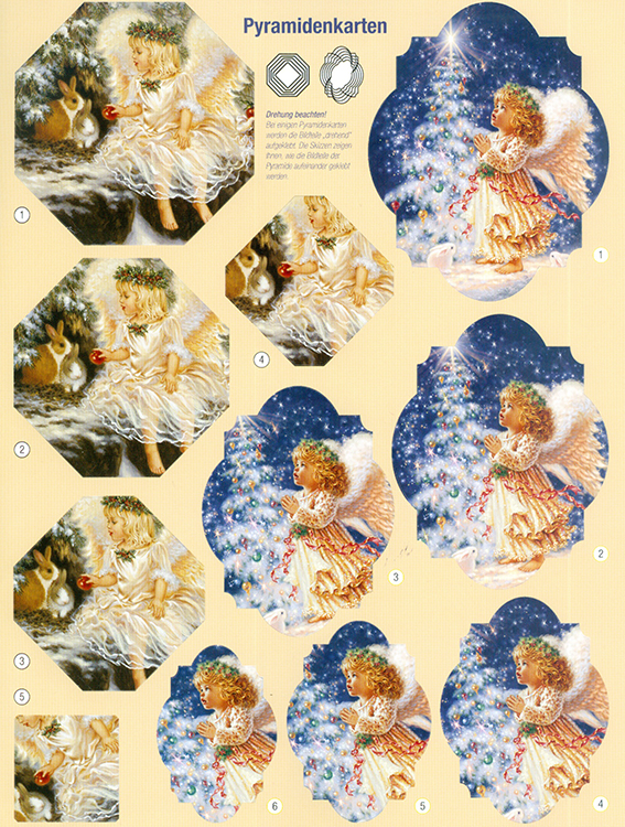 3D Precut - Angel with Tree & Little Sheppard - 2 sheets
