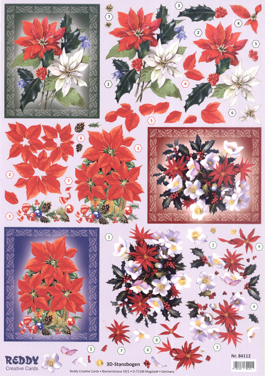 Reddy Pre Cut 3D - Poinsettias