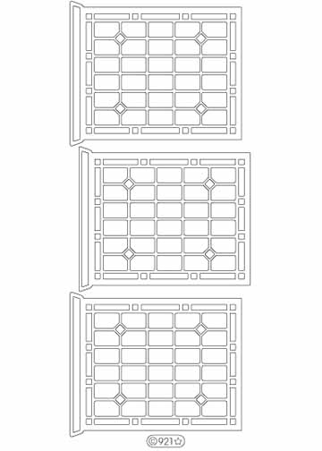 Deco Stickers - Window Panes