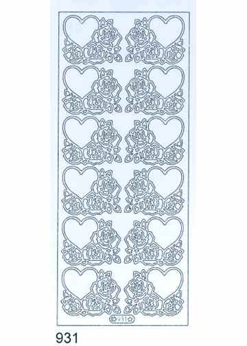 Deco Stickers - Hearts and Roses
