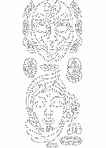 Deco Stickers - Masks