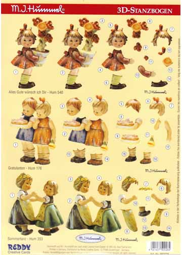 3D Precuts Hummels - Little Girls