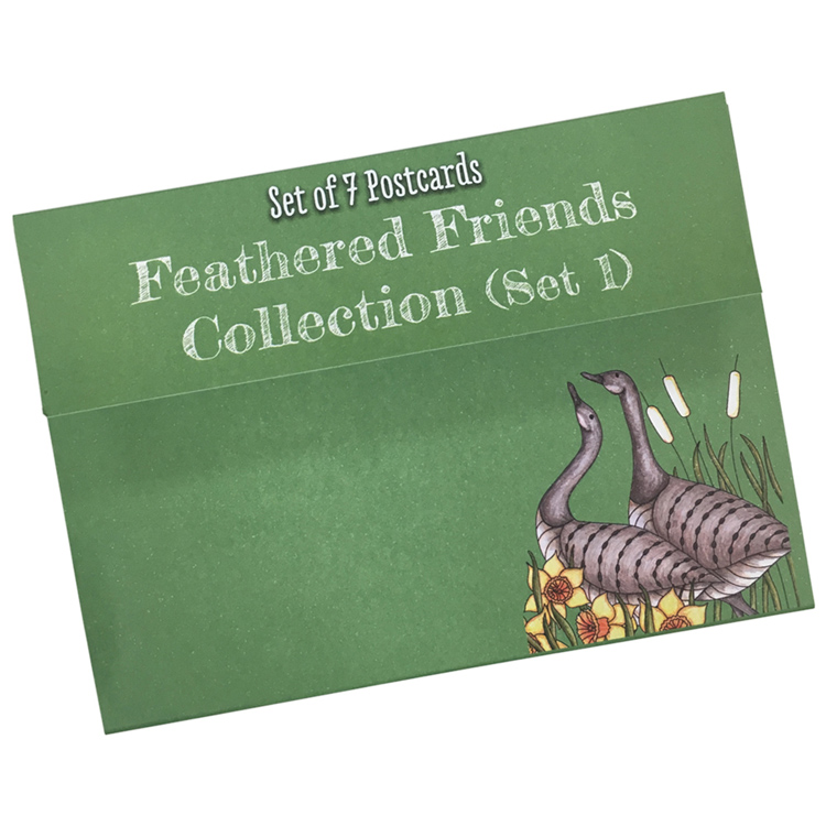Clarity Stamps - Feathered Friends Postcard Series #1