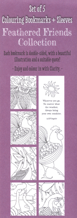 Clarity Stamps - Feathered Friends - Bookmarks Collection