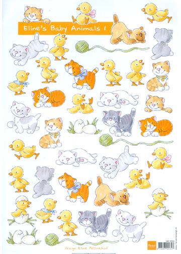 Marianne Design Baby Animals 1- Ducky's And Kittens