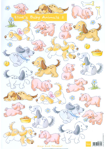 Baby Animal 2-Puppies and Pigs