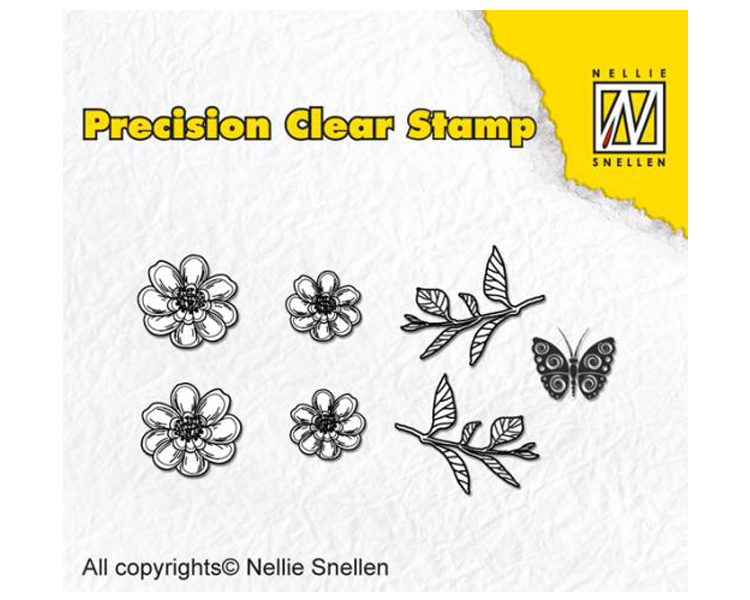 Nellie's Choice Precision Stamps - Anemone