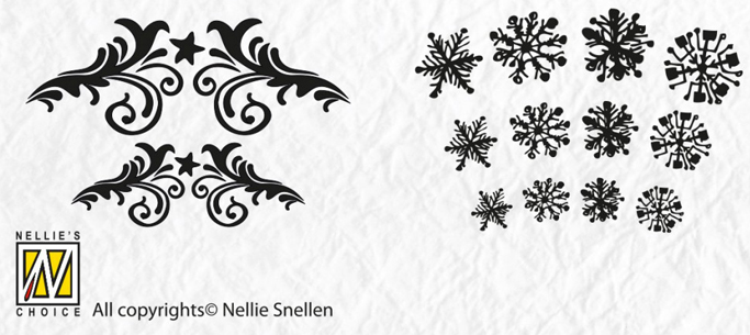 Precision Stamps - Christmas - Flowerswirl- snowflake