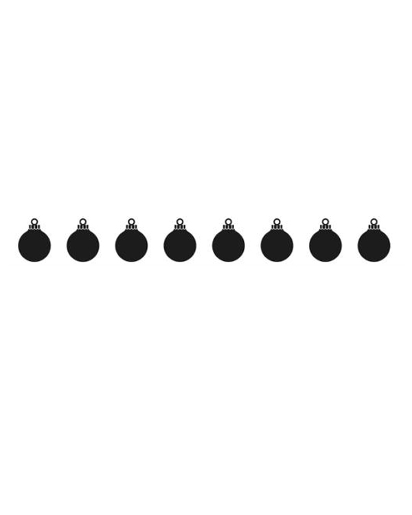 Border Embossing Folder - Xmas Balls