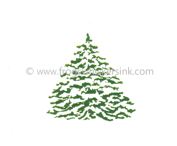 Frog's Whiskers Ink Stamps - Snowy Tree