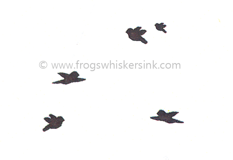 Frog's Whiskers Ink Stamps - Group of Birds
