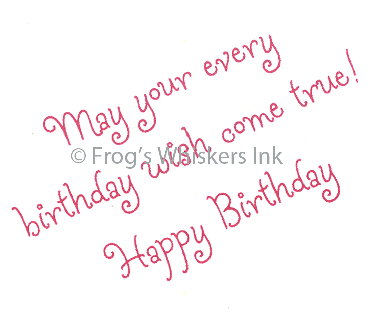 Ecstasy Crafts Frog's Whiskers Stamps - May Your Every