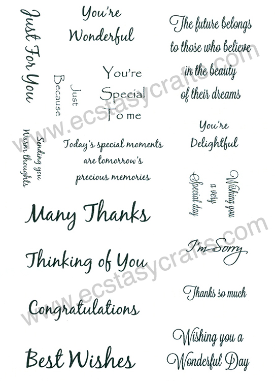 Creative Expression Sentiment Stamp Set 2