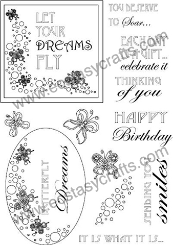 Creative Expressions Creative Expression Stamp - Butterfly Dreams