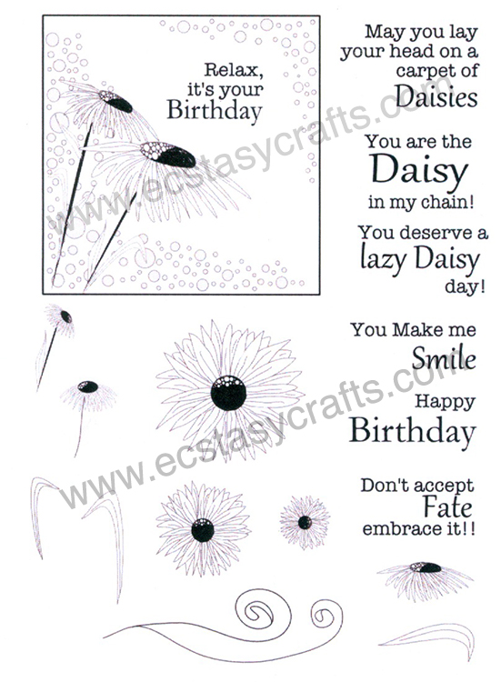 Creative Expression Stamp - Daisy Corner