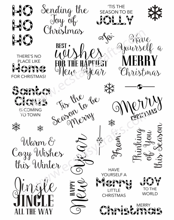 Creative Expressions Santa's Sentiments A5 Clear Stamp Set