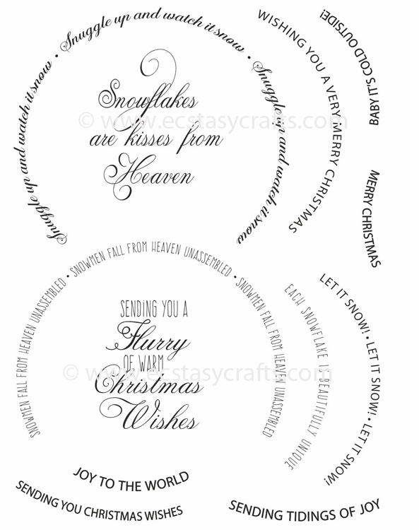 Creative Expressions Stamps - Snow Globe Sentiments