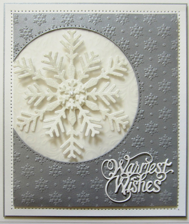 Creative Expressions Festive Collection Bold Snowflake Flurry