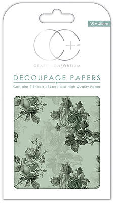 Creative Expressions Blue Rose Mid Decoupage Papers