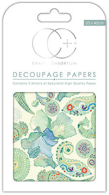 Creative Expressions Turquoise Paisley Decoupage Papers