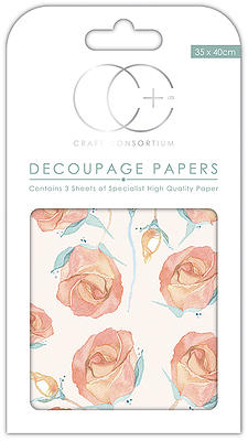 English Rose Decoupage Papers