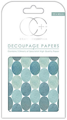 Blue Dots Decoupage Papers