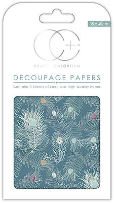 Peacock Blue Decoupage Papers