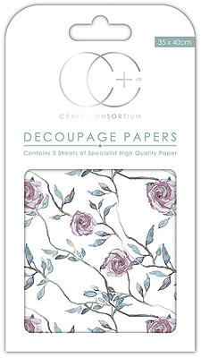 Climbing Rose Decoupage Papers