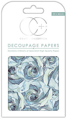 Creative Expressions Blue Rose Med Decoupage Papers