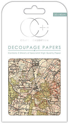 Creative Expressions Vintage Map Decoupage Papers