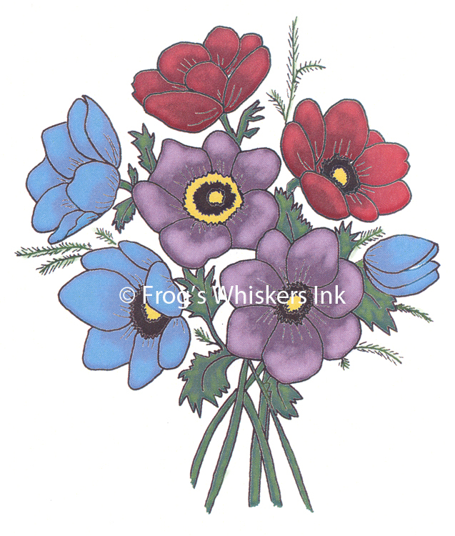Ecstasy Crafts Frog's Whiskers Stamps - Anemones